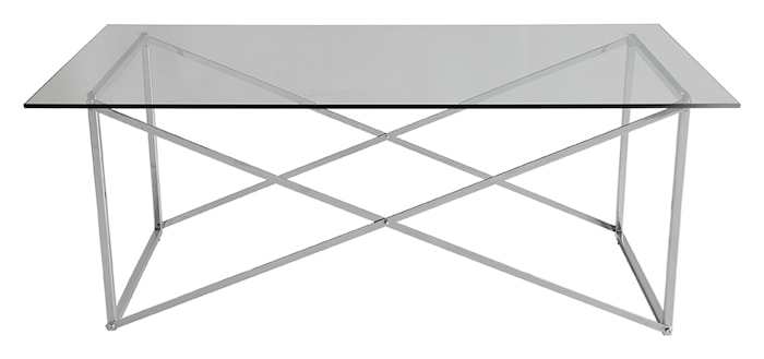 Cross Soffbord Blank krom 120x65cm
