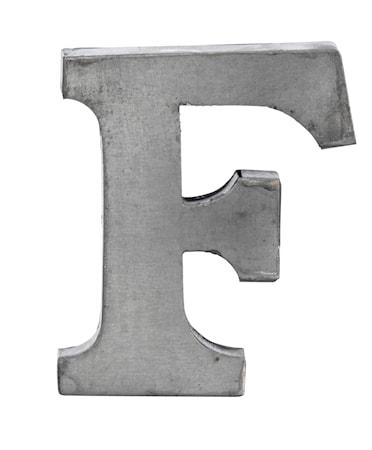 Kirjain F 5,5 cm - Sinkki