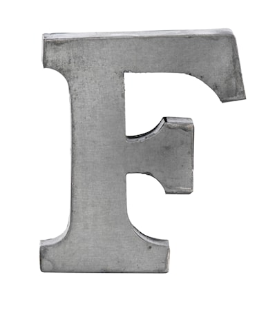 Bogstav F 5,5 cm - Zink