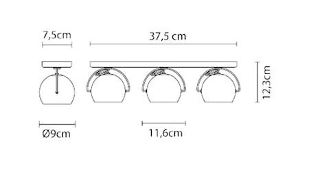Beluga 3 Vägg/Taklampa