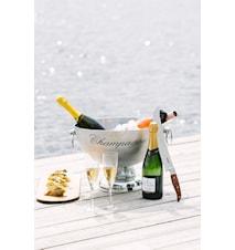Champagnesabel med træhåndtag længde 42 cm