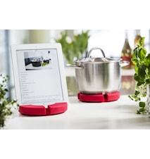 Cook´n read bordskåner/holder til tablet, rød