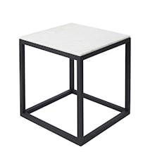 Cube Sidobord Small Marmor Svart