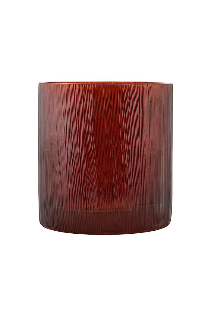 Ljuslykta Details Ø 8x8 cm Röd/Brun