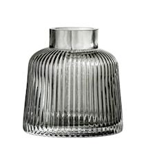 Vase Grey Glass Ø9x9 cm