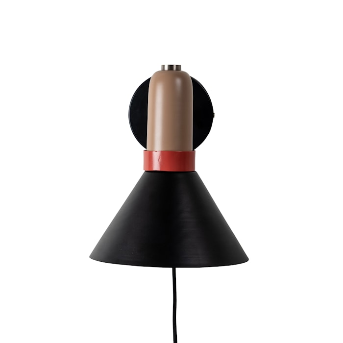 Vägglampa Yumi Svart/Beige/Röd
