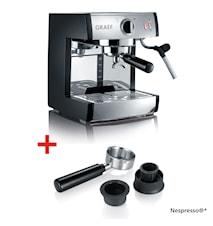 Espressokone Pivalla + Nespresso