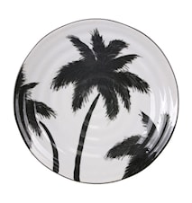 Jungle' Serving Plates Palm Trees