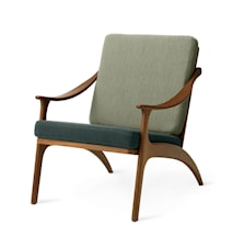 Lean Back Lounge Chair Petrol shade/Light sage Teak