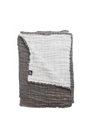 Överkast Hannelin charcoal/white 160x260