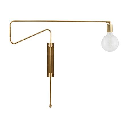 Vägglampa Swing 70cm Mässing