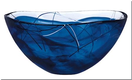 Contrast Blå Skål D: 350mm