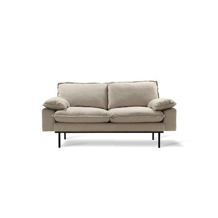Retro Soffa 2-sits cosy Beige