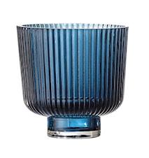 Lysholder Blue Glass Ø9x8,5 cm