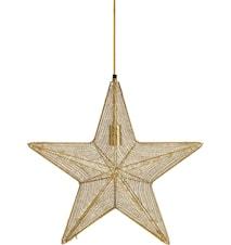 Orion hanging star Guld 44cm