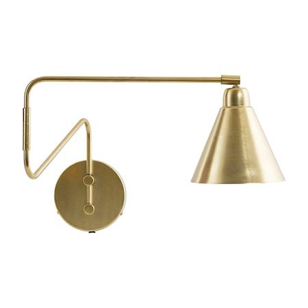 Game Vegglampe Messing/Hvit 15 cm