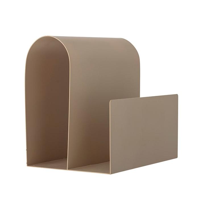 Porte-revues marron en métal