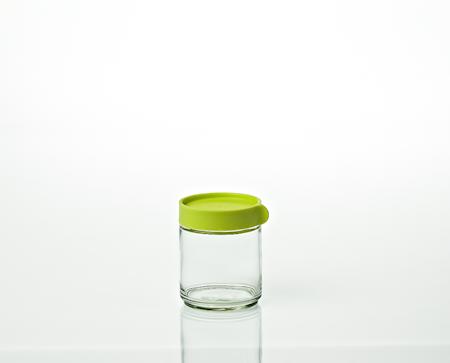 Glassbokser med lokk 4 x 40 cl Grønn