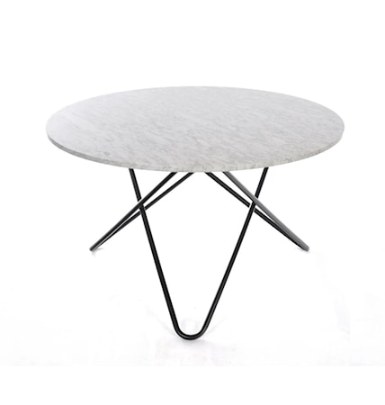 Big O table Spisebord Carrara/Sort