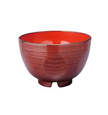 Japansk skål i plast - Suziiri Kikko Röd