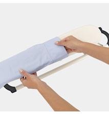 Hihansilityslauta, valkoinen raami 60x10 cm Ecru