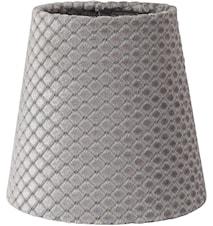 Queen Lampskärm Ruta Grå 12cm