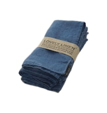 Lovely Linen Servett – Denim Blue