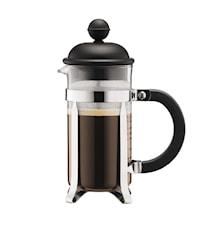 Caffettiera Kaffebryggare 3 koppar Svart