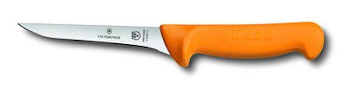 Utbeiningskniv, 13 cm, Swibo gult håndtak