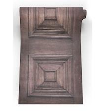 Victorian panelling tapet – Brun
