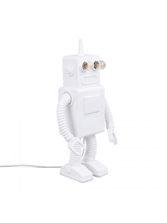 Robot Porslinslampa 21x12,5x40,5cm