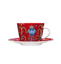 Taika kaffe/cappucinokopp 20cl röd