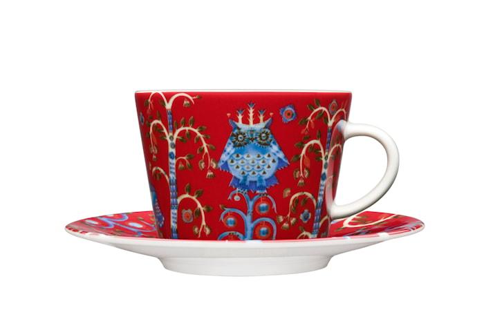 Taika kaffe/cappucinokopp 20 cl rød