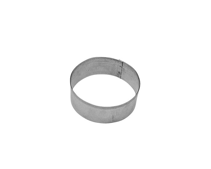 Pepperkakeform Ø6cm Stål, Ring