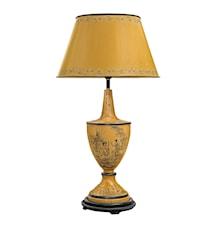 Lampa Handmålad Plåt Gul