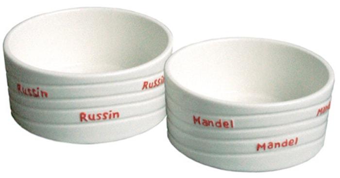 Russin- & Mandelskål Keramik 2-pack