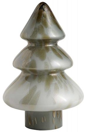 Julgran Glas Grå/Guld Large