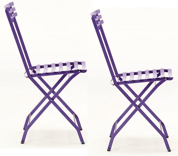 Flower folding stol - Periwinkle lilac