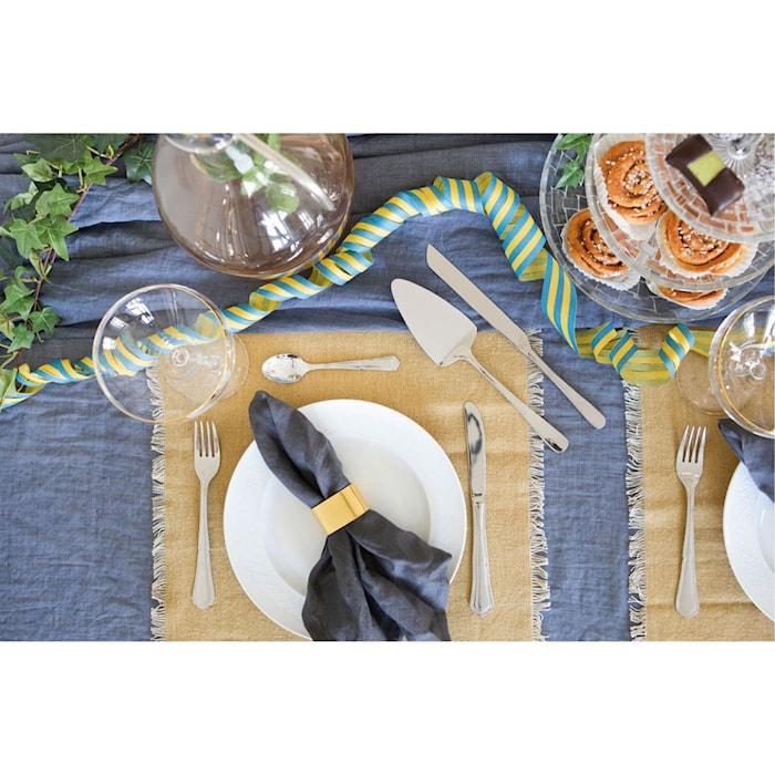 Bestiksæt 30 dele dekoreret kniv gaffel ske kaffeske grillkniv