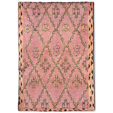 Håndlaget Woolen Berber Teppe Terra/Orange 250x350 cm