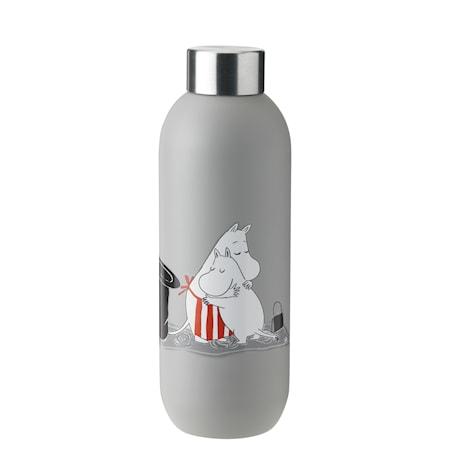Keep Cool Mumin Vattenflaska Ljusgrå 0.75 L