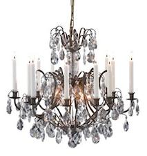Kronovall Taglampe 6 Lys Antik