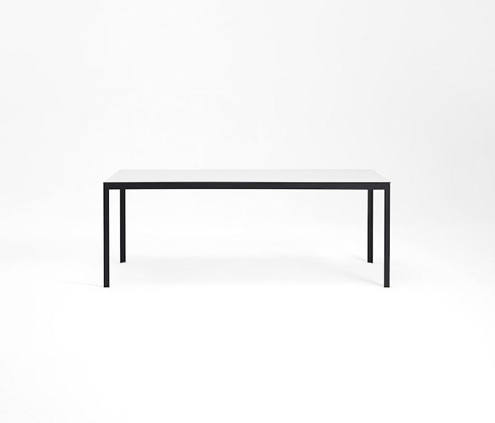Kant Table med iläggsskiva Underrede Vit