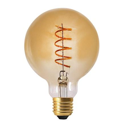 Elect Spiral LED Fil Globe Gold 95 mm