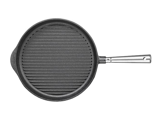 Grillpanna Gjutjärn Stålhandtag 28 cm