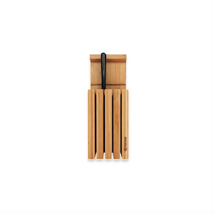 Knivblokk for 4 kniver bambustre