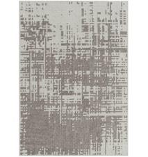 Canevas Abstract Ullteppe 170x240 - sølv