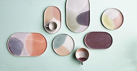 Gallery Keramikteller Oval Pink/Nude