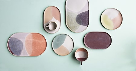 Gallery Keramik Tallerken Oval Pink/Nude