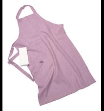 Erik classic lang forklæde – Med viskestykke, soft pink